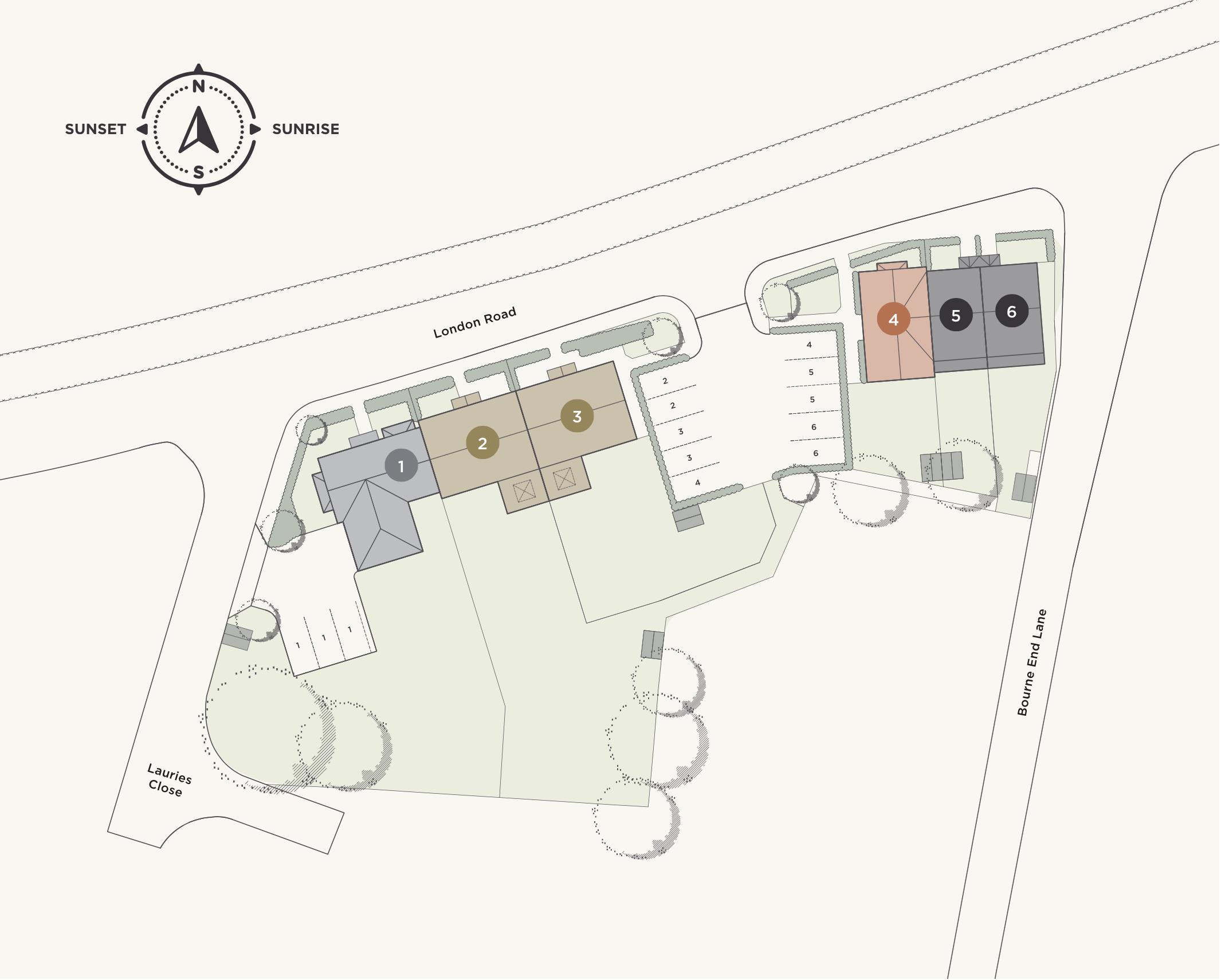 Bourne End site plan